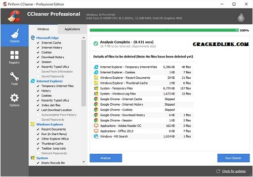 CCleaner Pro 5.71 Crack With License Key 2020 Free Download