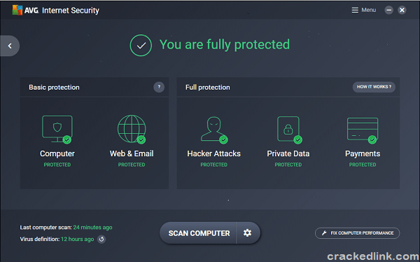 AVG Internet Security 2020 Crack Plus License Key {Latest} Free Download
