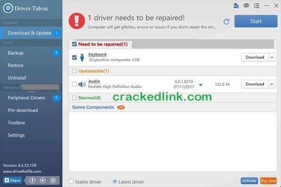 Driver Talent Pro 7.1.33 Crack Plus Activation Code Free Download