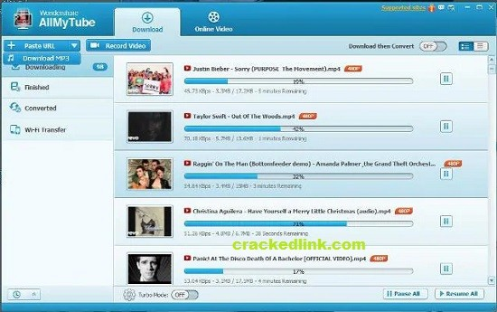 Wondershare AllMyTube 7.4.9.2 Crack Plus Registration Code
